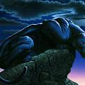 Panther On Rock by MGL Studio - Chris Hiett