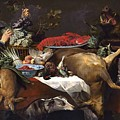 Pantry Scene With Servant By Frans Snyders by Frans Snyders