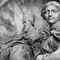 Papal Statues Inside St Peter's Basilica by Michael Evans