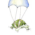 Parachute Turtle by Fran Henig