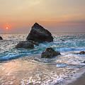 Paradise Beach Sunset by Sandra Rugina