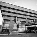 Paradise Forum And Priestley Statue In Birmingham Uk by Joe Fox