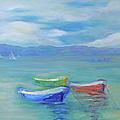 Paradise Island Boats by Barbara Anna Knauf