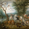 Paradise Landscape With Animals by Jan Brueghel the Elder