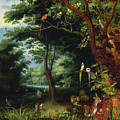 Paradise Scene With Adam And Eve by Jan the Younger Brueghel