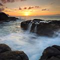 Paradise Sunset Splash by Mike Dawson