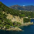 Paraggi Bay Castle And Liguria Mountains Portofino Park  by Enrico Pelos