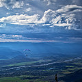 Paragliding Above Jackson Hole by Bruce Block