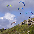 Paragliding Over Sennen Cove by Terri Waters