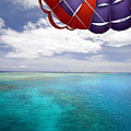 Parasail Over Fiji by Dave Fleetham - Printscapes