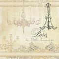 Parchment Paris - City Of Light Chandelier Candelabra Chalk by Audrey Jeanne Roberts