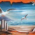 Parchment Seascape by Joni McPherson