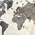 Parchment World Map by Douglas Pittman