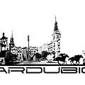 Pardubice Skyline City Black by Justyna JBJart