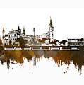 Pardubice Skyline City Brown by Justyna JBJart