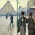Paris A Rainy Day - Gustave Caillebotte by Gustave Caillebotte