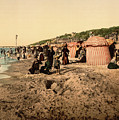 Trouville France Beach - The Good Old Days by Peggy Collins