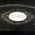 Paris Black And White Gold Typography Home Decor - French Script Paris Wall Art Home Decor by Kathy Fornal