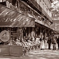 Paris Cafe 1935 Sepia by Andrew Fare