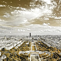 Paris City View 20 Sepia by Alex Art and Photo