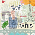 Paris Cityscape- Art By Linda Woods by Linda Woods