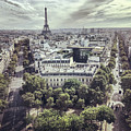 Paris Cityscape From Above, France by Anna Bryukhanova