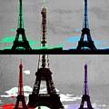Paris, Eiffel Tower - Pop Art by Marianna Mills