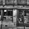 Paris France Book Store Library Black And White by Toby McGuire