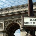 Paris France. Larc De Triomphe On Place Charles De Gaulle by Richard Wareham
