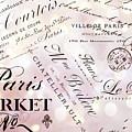 Paris French Script Wall Decor - French Script Letters Typography - Paris French Script Wall Decor by Kathy Fornal