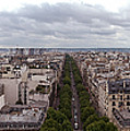 Paris From The Arch De Triumph by Robert Ponzoni