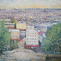 Paris From The Basilique Du Sacre Coeur Montmartre France 2003  by Enver Larney