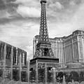 Paris Hotel - Las Vegas B-w by Anita Burgermeister