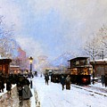 Paris In Winter by Luigi Loir