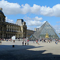 Paris Louvre And Pyramid by August Timmermans