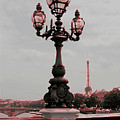 Paris Luminaires And Eiffel Tower by Carol Groenen
