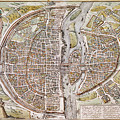 Paris Map, 1581 by Granger