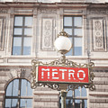Paris Metro Sign Architecture by Ivy Ho