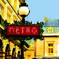 Paris Metro Stop by Elaine Plesser