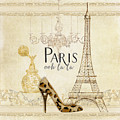 Paris - Ooh La La Fashion Eiffel Tower Chandelier Perfume Bottle by Audrey Jeanne Roberts