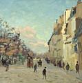 Paris Quai De Bercy Snow Effect by Jean Baptiste Armand Guillaumin