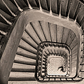 Paris Staircase - Sepia by Brian Jannsen