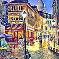 Paris Street Abstract 2 by Nenad Vasic