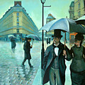 Paris Street Rainy Day by Jose Roldan Rendon