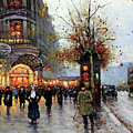 Paris Street Scene by Edouard Cortes