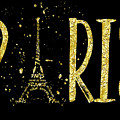 Paris Typografie - Gold Splashes by Melanie Viola