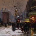 Paris Winter Scene by Fausto Giusto