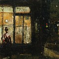 Parisian Boulevard At Night by Lesser Ury