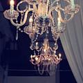 Parisian Crystal Chandelier - Chandelier In Window - Paris Gold Crystal Chandelier Decor by Kathy Fornal