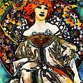 Parisian Lady Van Gogh Style Expressionism by Isabella Howard
